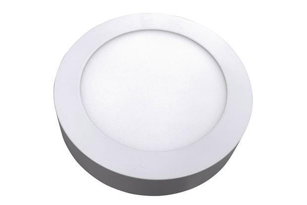 Luminária Painel Led de Sobrepor Redonda Home 12w 6400k Bivolt Branca - Bronzearte