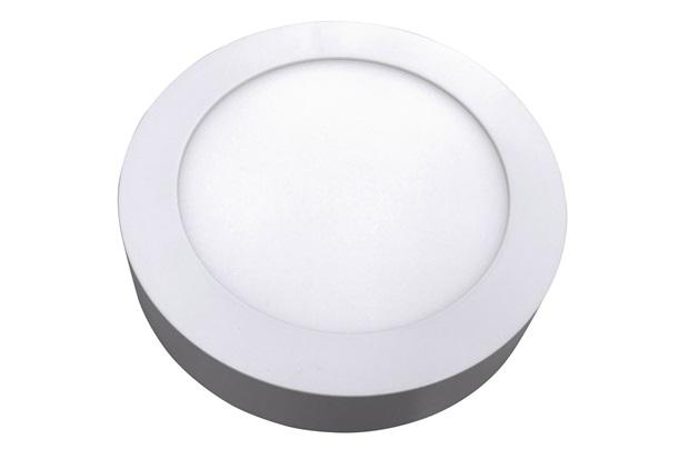 Luminária Painel Led de Sobrepor Redonda Home 18w 6400k Bivolt Branca - Bronzearte
