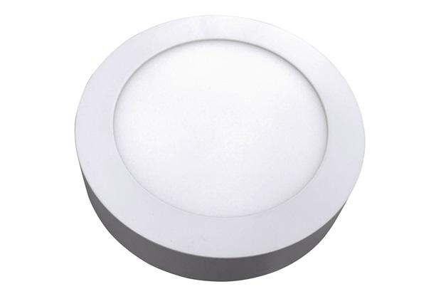 Luminária Painel Led de Sobrepor Redonda Home 24w 6400k Bivolt Branca - Bronzearte