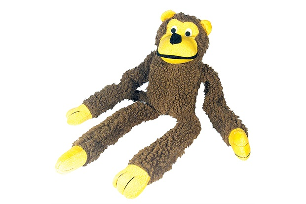 Macaco de Pelúcia para Pets Marrom - Chalesco