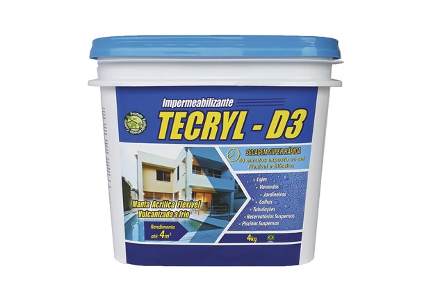 Manta Acrílica Impermeabilizante D-3 4kg Cinza - Tecryl Impermeabilizantes