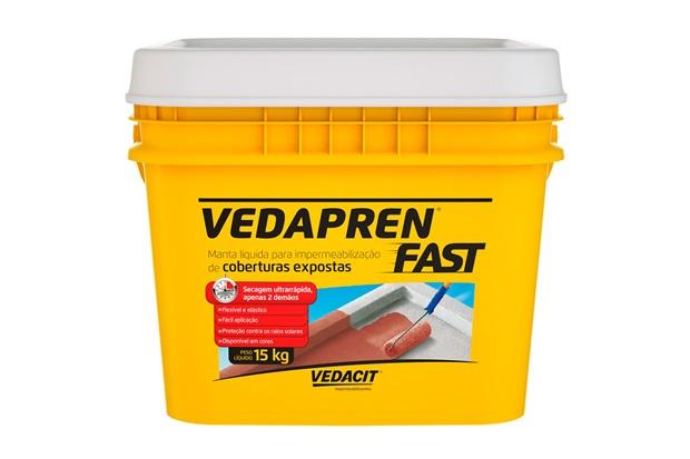 Manta Líquida Acrílica Vedapren Fast Branca 15kg - Vedacit