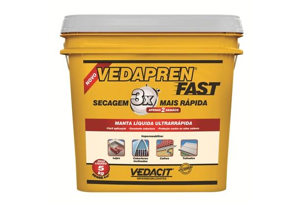 Manta Líquida Vedapren Fast Branco 5kg    - Vedacit