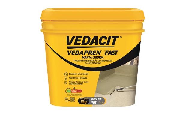Manta Líquida Vedapren Fast Concreto 5kg  - Vedacit