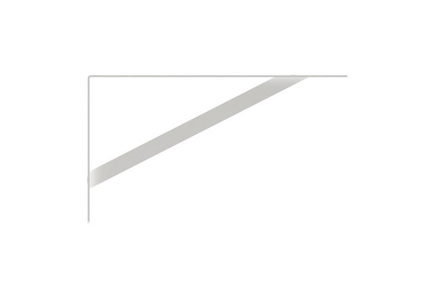 Mão Francesa Leve 22cm Branca - Brasforma