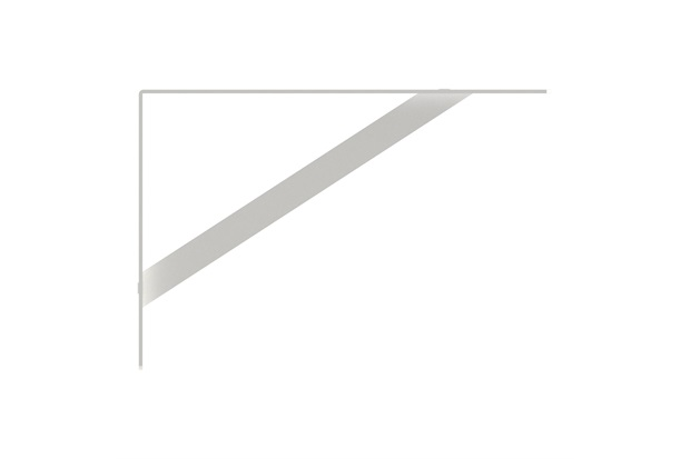 Mão Francesa Pesada 30cm Branca - Brasforma