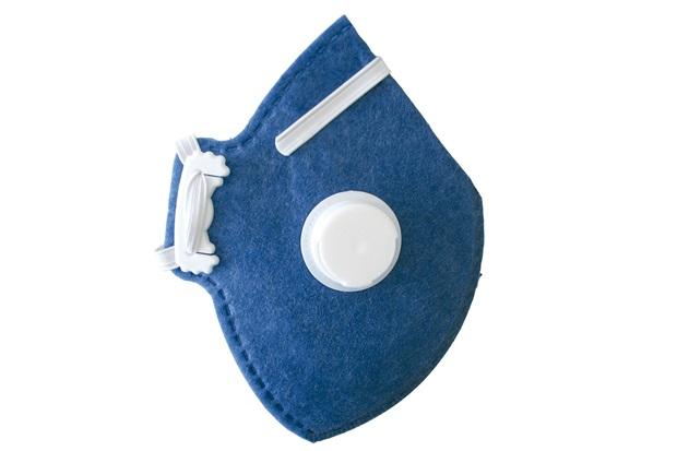 Máscara de Proteção Descartável para Uso Profissional Cg411v Pff1 Azul - Carbografite