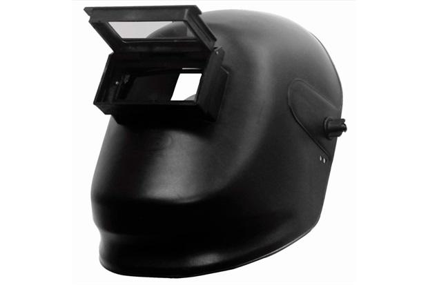 Máscara de Solda em Polipropileno com Visor Articulado 18x23cm Preta - Delta Plus