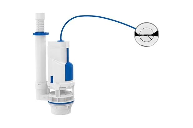 Mecanismo de Saída Universal com Duplo Acionamento para Caixa Acoplada - Blukit