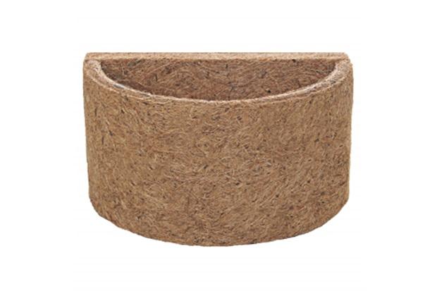 Meio Vaso em Fibra de Côco 18x10cm Natural - Agrofor