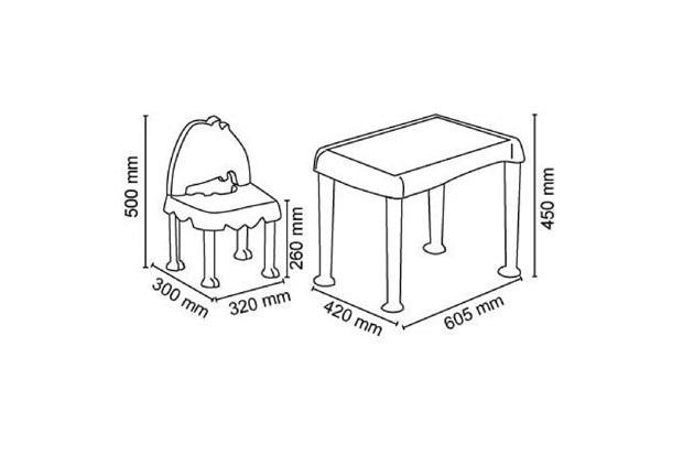 Mesa E Cadeira Monster Azul Masculino Infantil  - Tramontina