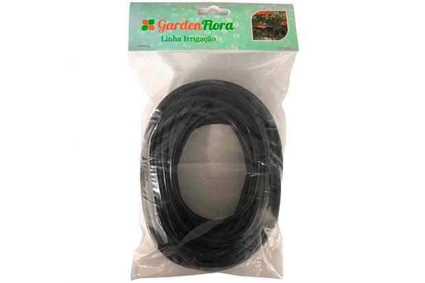 Microtubo para Irrigação 4x1,5mm com 5 Metros Preto - Verdi Max