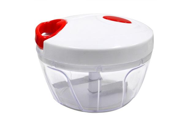 Mini Fatiador em Plástico 13x10cm Branco E Vermelho - Casanova