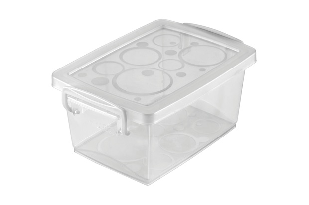 Mini Organizador com Alça 12,8x9cm Branco - Ordene
