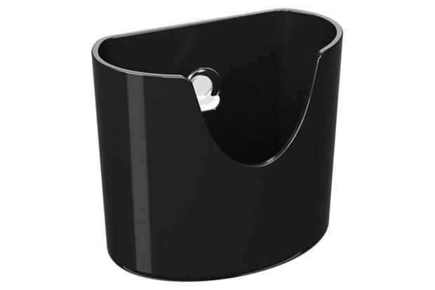 Mini Organizador com Ventosa Glass 10,4x5,6cm Preto - Coza
