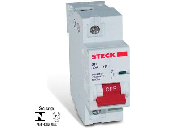 Minidisjuntor Sd1 10ka Curva C 100a 1p - Steck