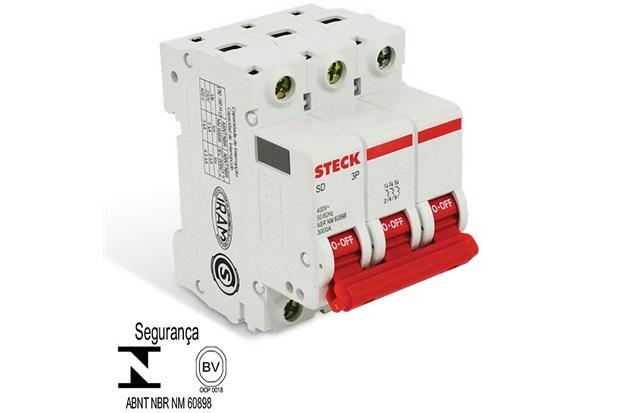 Minidisjuntor Sd63 3ka Curva C 40a 3p - Steck