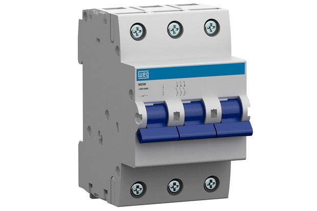 Minidisjuntor Termomagnético Mdw Din Curva C 63a 3p - WEG