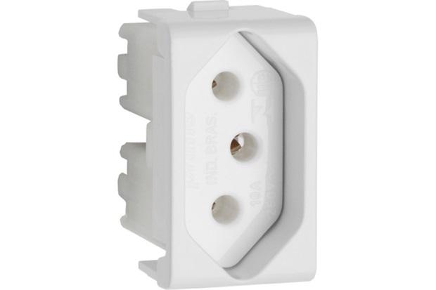 Modelo de Tomada Padrão 10a Branco Decor - Schneider