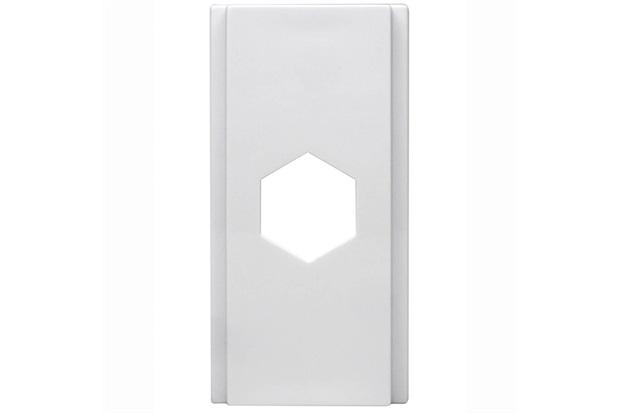 Módulo Cego com Furo Duale Up Branco - Iriel