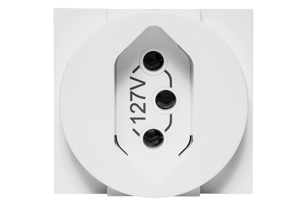 Módulo de Tomada 2p+T 20a Redondo Branco - Pial Legrand