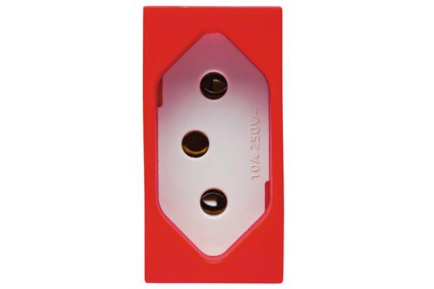 Módulo de Tomada com 2 Polos + Terra 20a 250v Vivace Vermelho - Siemens