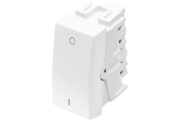 Módulo Interruptor Bipolar Simples Habitat 10a 250v Branco - Fame