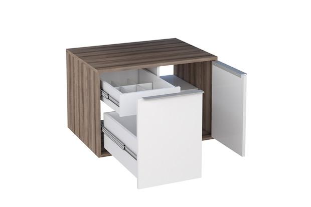 Módulo Suspenso Arati em Mdp E Mdf 59,7x43,1cm Branco com Tamarindo - Cozimax