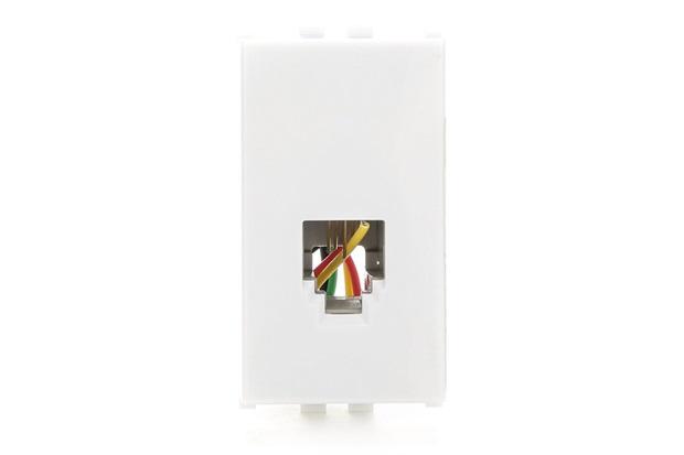 Módulo Tomada Rj 11 de Telefone Ilus Branca - Siemens