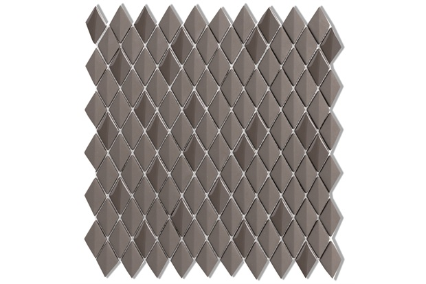 Mosaico Acetinado Prosa Diamond Dark Brown 29,6x30,9cm com 1 Peça - Portinari