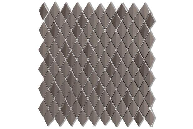 Mosaico Acetinado Prosa Diamond Dark Brown 29,6x30,9cm com 1 Peça - Portinari