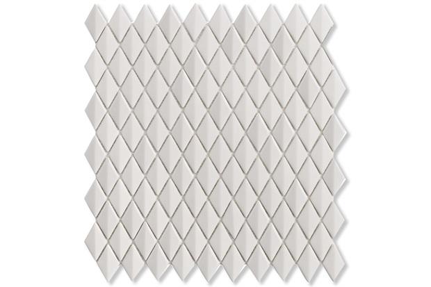 Mosaico Acetinado Prosa Diamond White 29,6x30,9cm com 1 Peça - Portinari