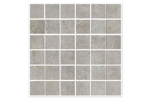 Mosaico Acetinado Seattle Cinza 33x33cm - Incepa