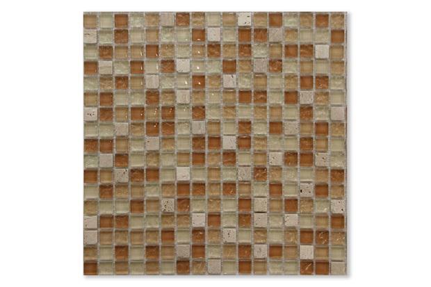 Mosaico Asteca Naua Marrom E Bege 30,5x30,5cm - Colormix