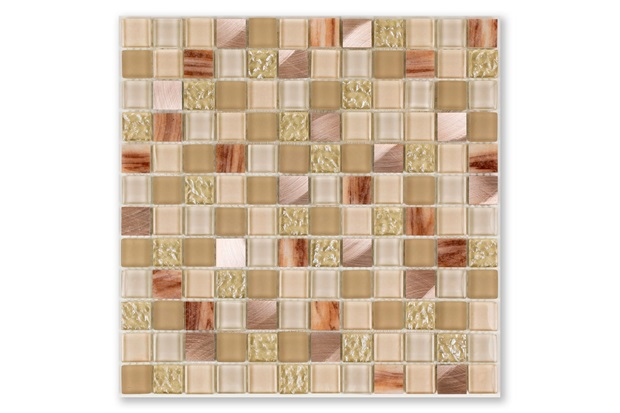 Mosaico Borda Bold Blend Glass Beige 30x30cm - Portinari