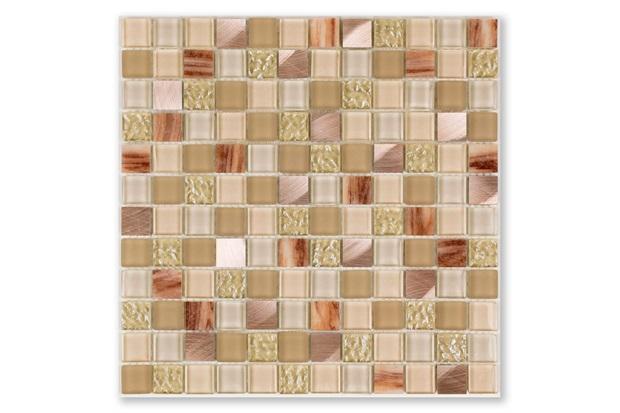 Mosaico Borda Bold Blend Glass Beige 30x30cm - Portinari