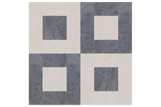 Mosaico Contemporâneo Quadratus Cimento 30x30cm - Biancogres