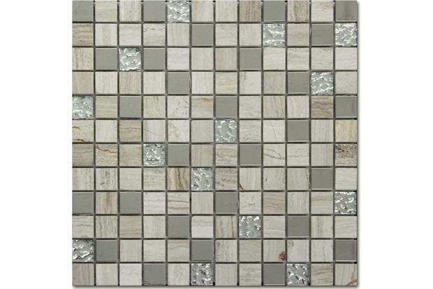 Mosaico de Vidro Asteca Rivas Bege 30,5x30,5cm - Colormix