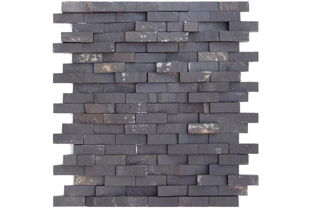 Mosaico Pedra Natural Ferro Mp 2100 Preto 30x30cm - Casanova