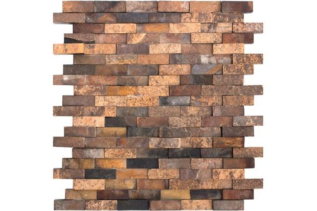 Mosaico Pedra Natural Ferrugem Mp 2110 Marrom 30x30cm - Casanova