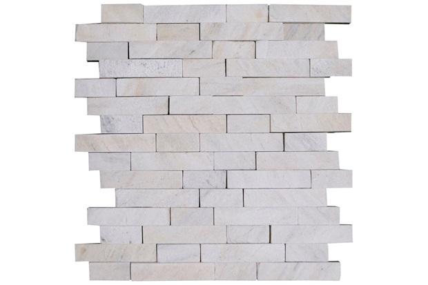 Mosaico Pedra Natural São Tomé Mp 2080 Branco 30x30cm - Casanova
