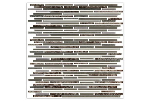 Mosaico Polido Borda Bold Line Brown 30x30cm com 1 Peça - Portinari