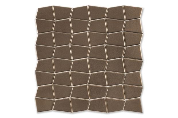 Mosaico Ritmos Metal Gd Ouro 30,5x30,5cm - Portinari