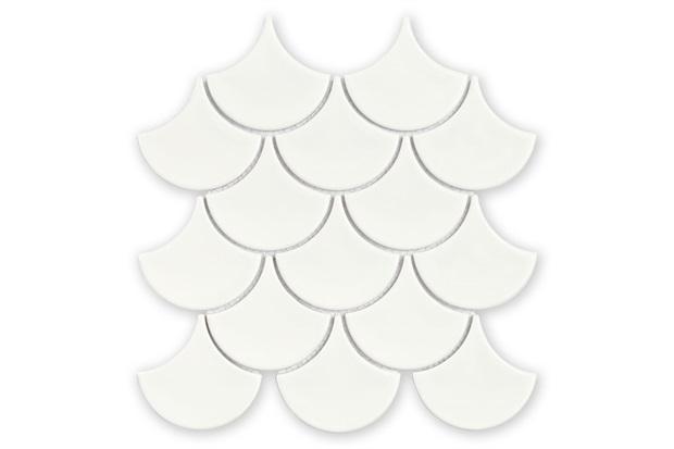 Mosaico Ritmos Wh Branco 25,9x27,3cm com 1 Peça - Portinari