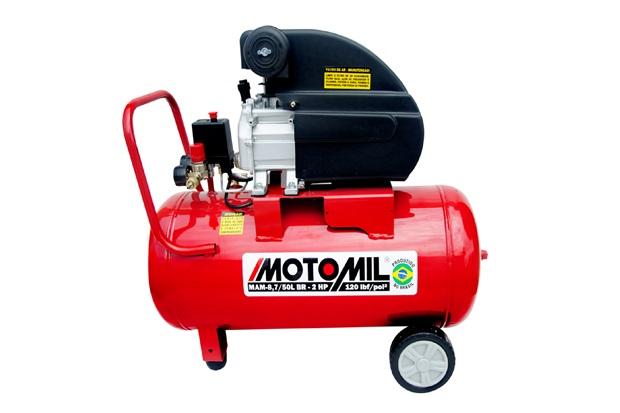Motocompressor de Ar com Rodas Monofásico 120lbf 220v Vermelho - Motomil