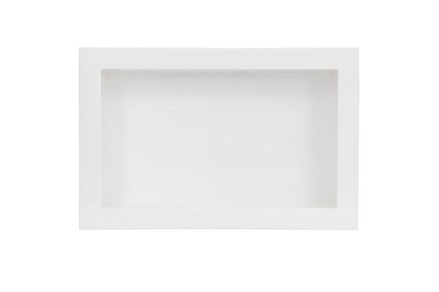 Nicho de Embutir em Mármore Sintético 30x50cm Branco - Líder Gabinetes