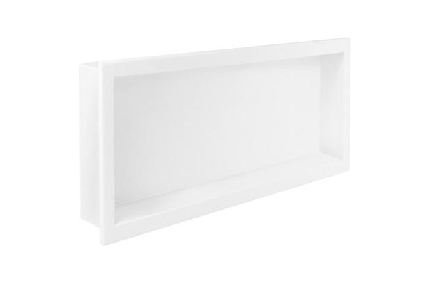 Nicho de Embutir para Banheiro Newstone 34x64cm Branco - Venturi