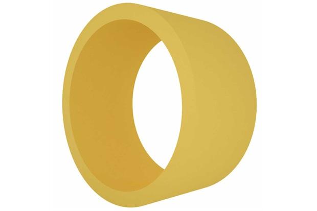 Nicho em Mdf Redondo 39cm Amarelo - Decorprat