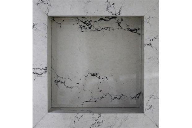 Nicho em Porcelanato Thar Bianco 30x30cm - Anticatto