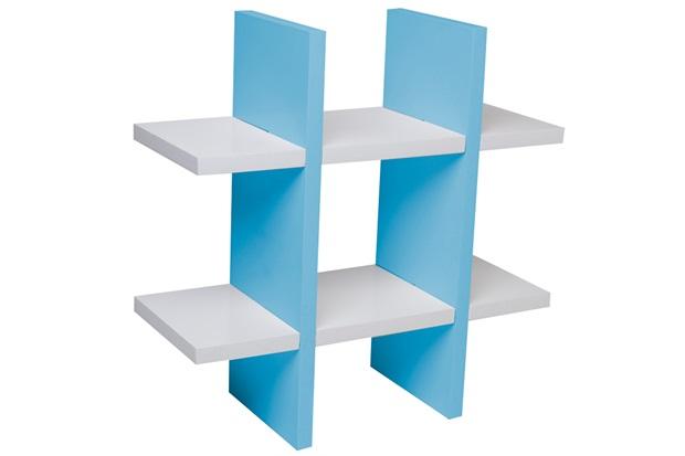 Nicho Jogo da Velha 38cm Branco E Azul - Decorprat